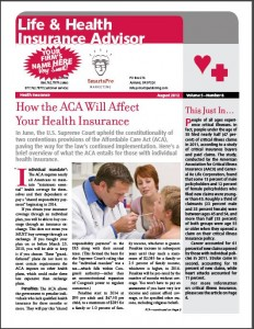 insurance newsletter samples LHIA