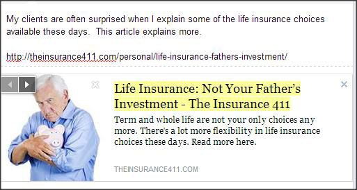 Not Your Fathers Life Insurance article